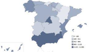Alumnado de Altas Capacidades Intelectuales por Comunidad Autónoma. Fuente: Ministerio de Educación de España.